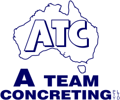 A team Concreting Logo